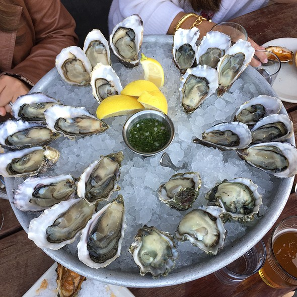 Oysters on the Half Shell @ Hog Island Oyster Co.