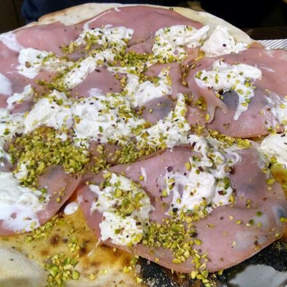 Mortadella Pistachio And Burrata Pizza