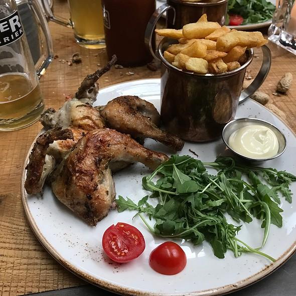Bbq Chicken And Fries @ Bierfabriek Amsterdam