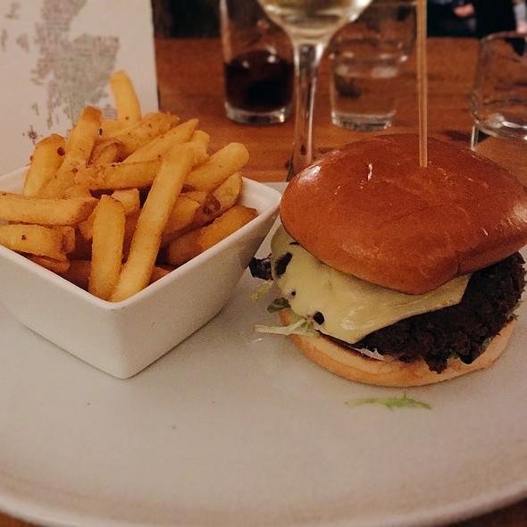 Veggie Haggis Burger With Salt & Pepper Fries