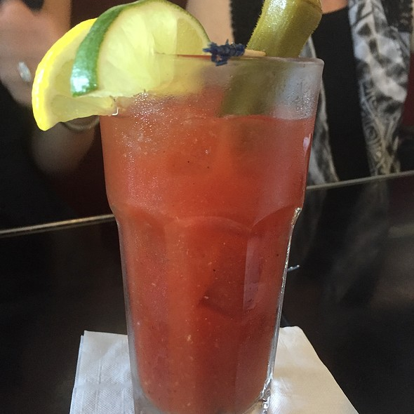 Spicy Bloody Mary With Pickled Okra