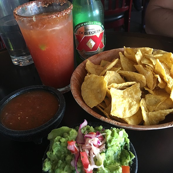 Chips, Salsa, Guacomole & Michelada