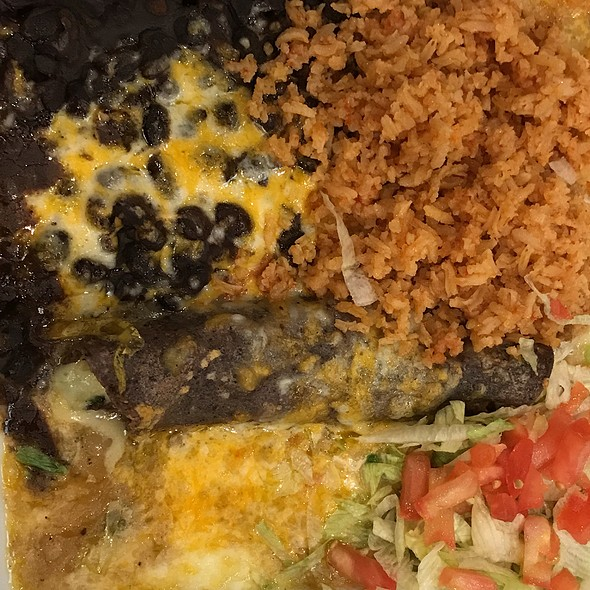 Spinach Enchilada @ The Salty Iguana Mexican Restaurant