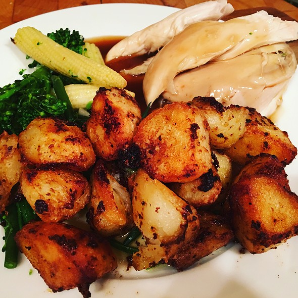 Roast Potatoes With A Side Of Chicken