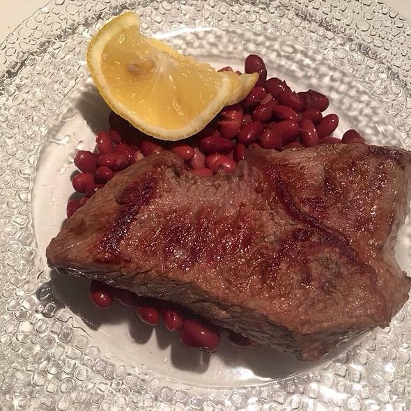 Steak, Red Beans and Lemon