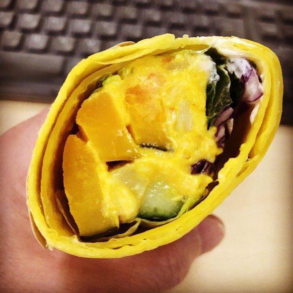 Pumpkin And Cream Cheese Salad Wrap @ STARBUCKS COFFEE