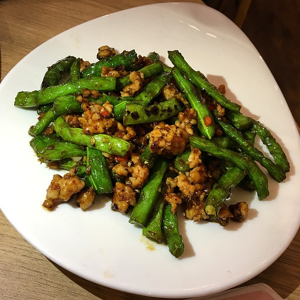 Sautéed French Beans with Dried Shrimp and Minced Pork 四季豆肉碎虾米酱