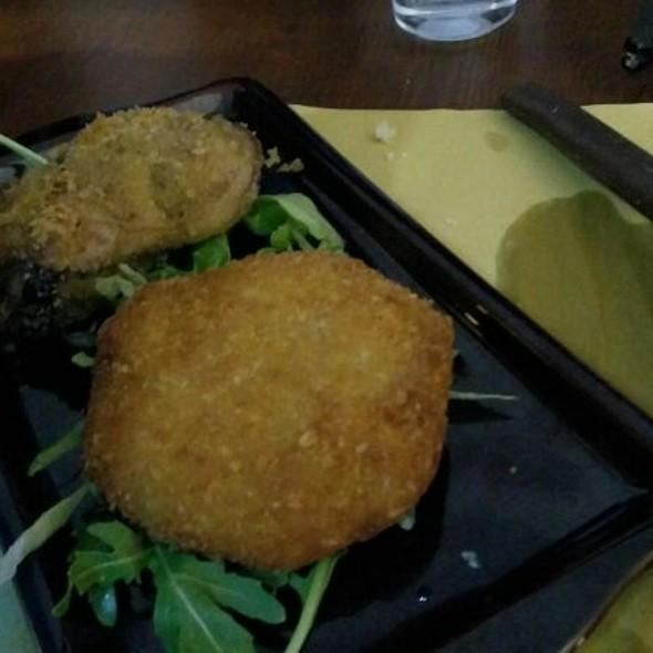 Fish Arancino And Eggplant Mini Cake @ La Perla Nera