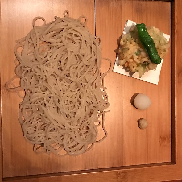 Soba With Shrimp Kashiage