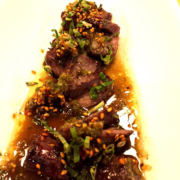 Hangar Steak With Chimichurri @ Foxley