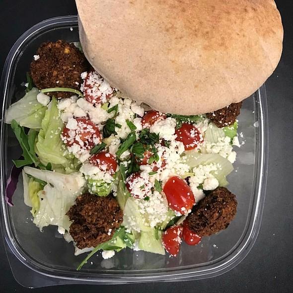 Falafel Plate With Greek Salad