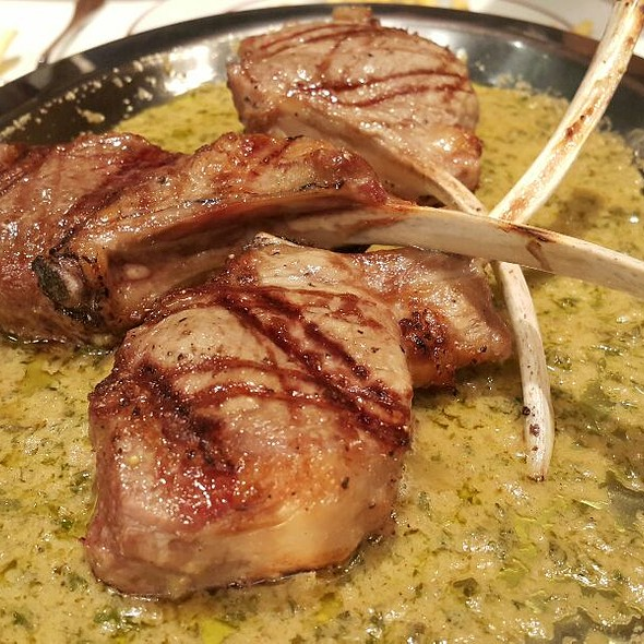 Lamb Steak with special herb butter sauce