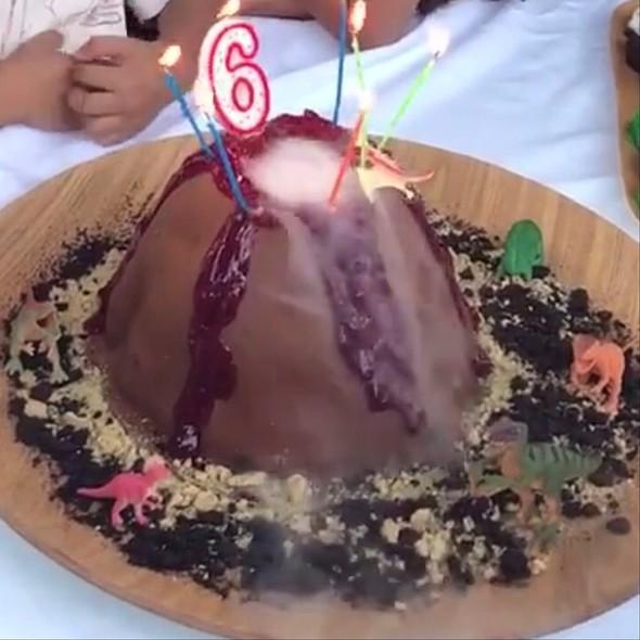 Mocha and Chocolate Volcano Cake