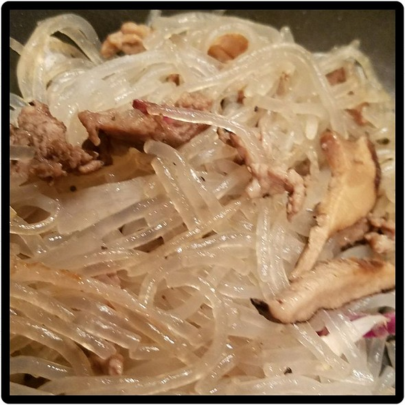 Beef And Mushroom Glass Noodles