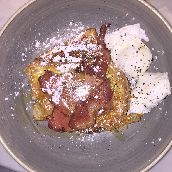 French Toast Bacon And Poached Eggs