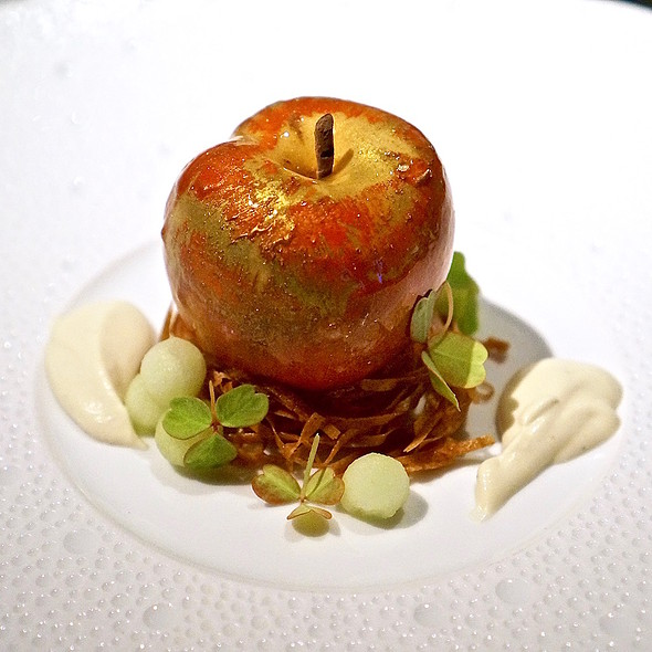 Apple – brown butter mousse, apple confit, armagnac sabayon