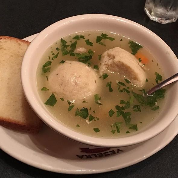 Matzoh Ball Soup @ Veselka