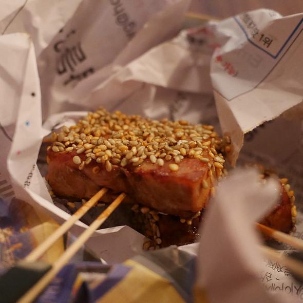 Pork Belly, Ketjap Manis, Sesame, Wasabi