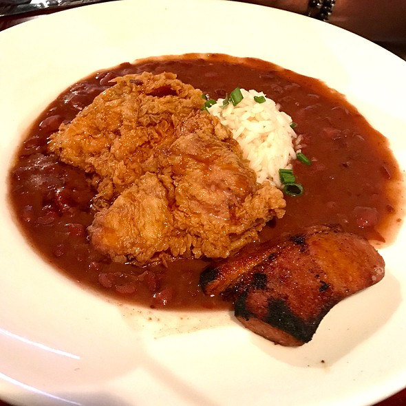 Crispy Chicken With Red Beans And Rice
