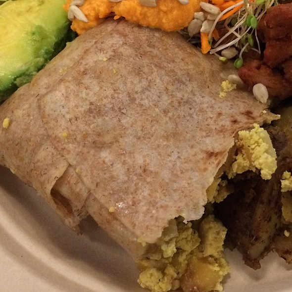 Breakfast Burrito @ Down To Earth All VEGETARIAN Organic & Natural