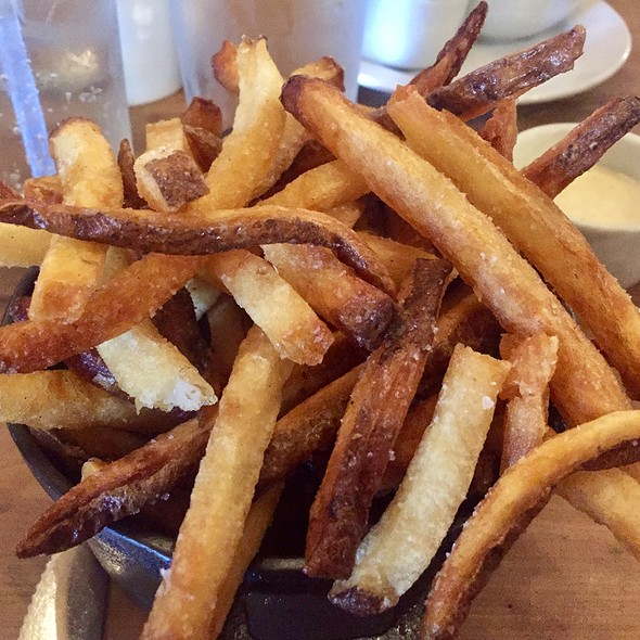 French Fries with Serrano Buttermilk Dressing