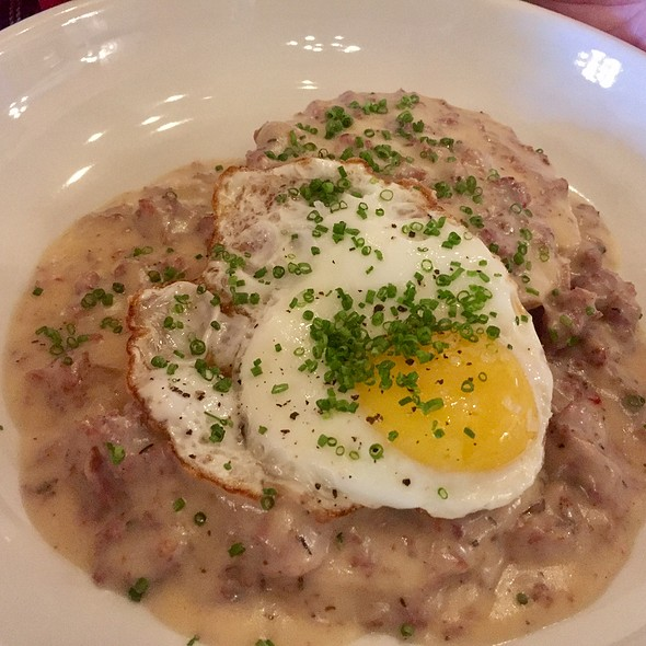 Biscuits & Gravy with Smoked Sausage and Fried Egg