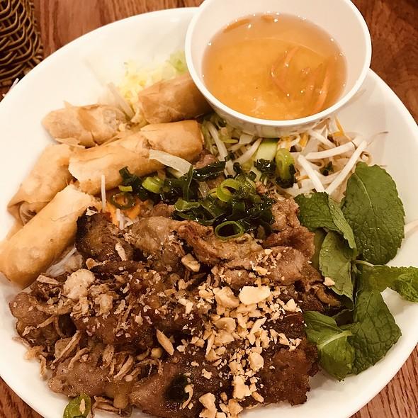 Pork and spring roll rice noodle salad @ Pho Vietnamese Kitchen