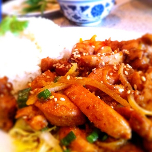 Lemongrass Chicken on Rice @ Hanoi 3 Seasons