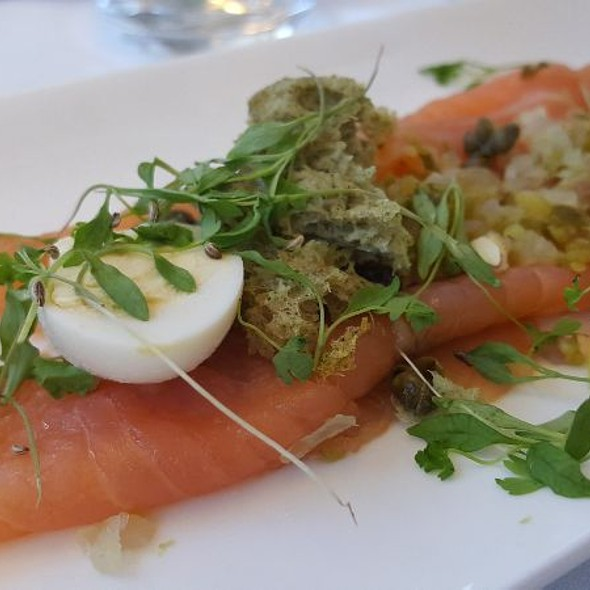 Seven And Wye Scottish Salmon With Quail Egg