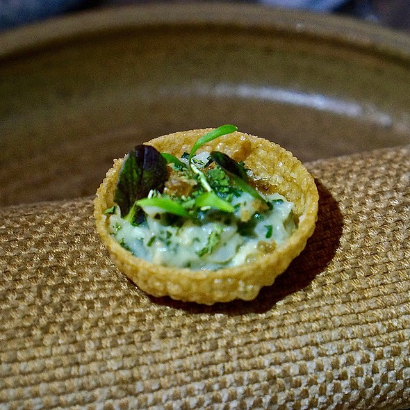 Dried fish brandade and bokchoy tart