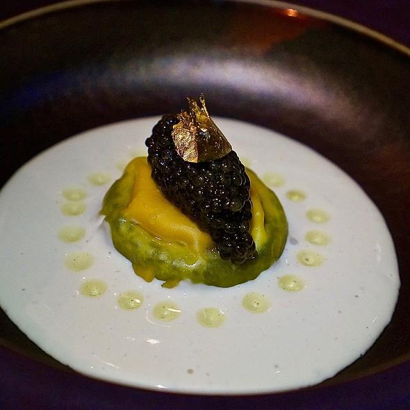 Taiyouran egg, truffle, parmesan foam, Chinese osetra cavir