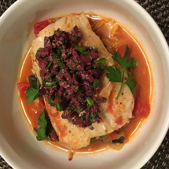 Tomato Braised Cod With Olive Tapenade