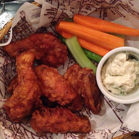 Buffalo Wings With Blue Cheese Dip  @ Borough NY Comfort Food