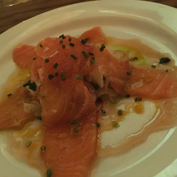 King Salmon Crudo @ Bazar Tapas Bar And Restaurant