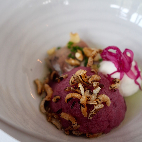 Herring, red cabbage and goat cheese @ Aan De Zweth