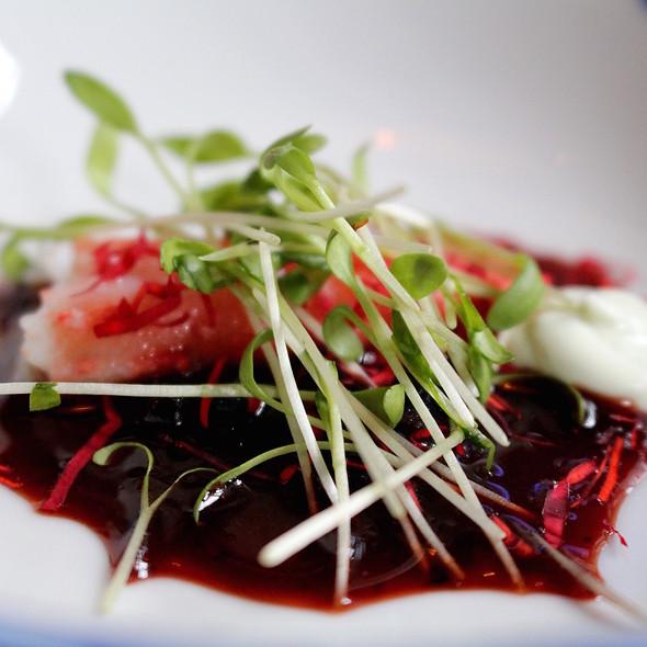King crab, roses, elder blossom and berries @ Taiko | Conservatorium Hotel