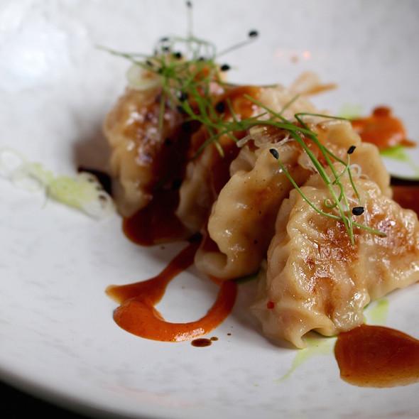 Crab-gyoza with tamarind and kimchi @ Taiko | Conservatorium Hotel