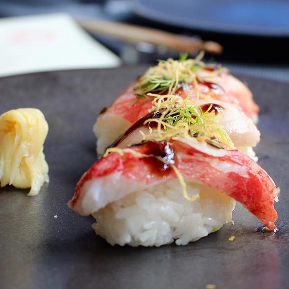 Smoked crab nigiri @ Taiko | Conservatorium Hotel