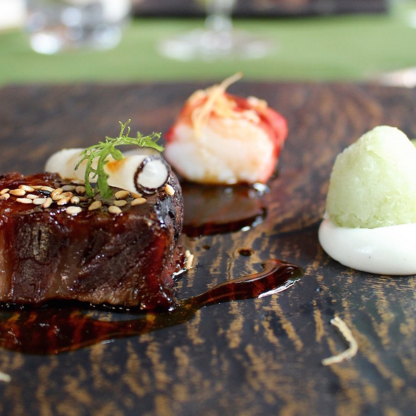 Calf cheek, crab of the bbq and wasabi @ Taiko | Conservatorium Hotel