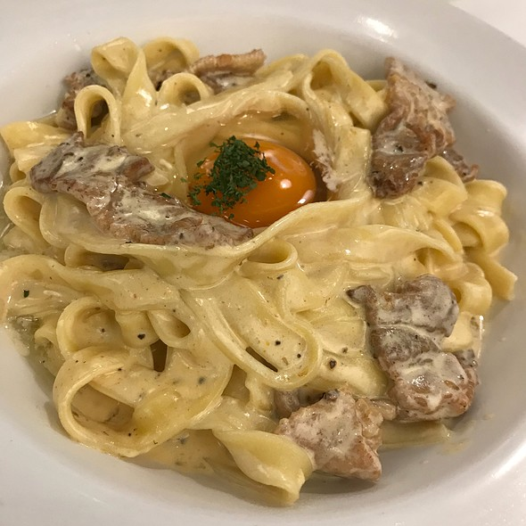Marinated Pork In Cream Sauce, Homemade Tagliatelle With Raw Egg
