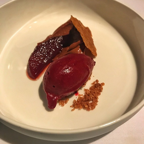 Chocolate Mousse With Mulberry Sorbet