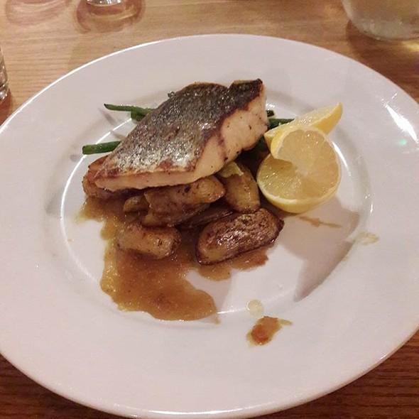 sea bass and potatoes