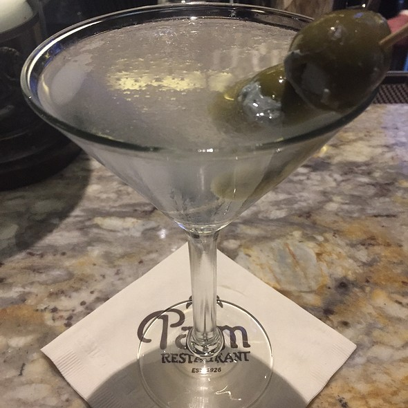 Hendrick's Gin Martini With Blue Cheese Stuffed Olives