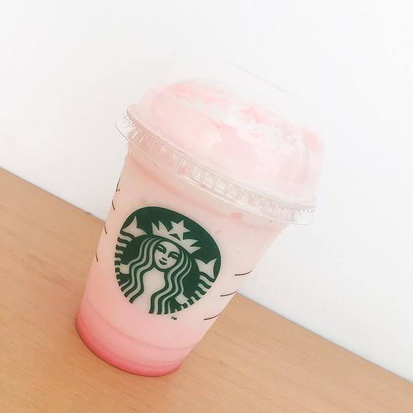 Pink Blossom Frappuccino @ Starbucks Coffee