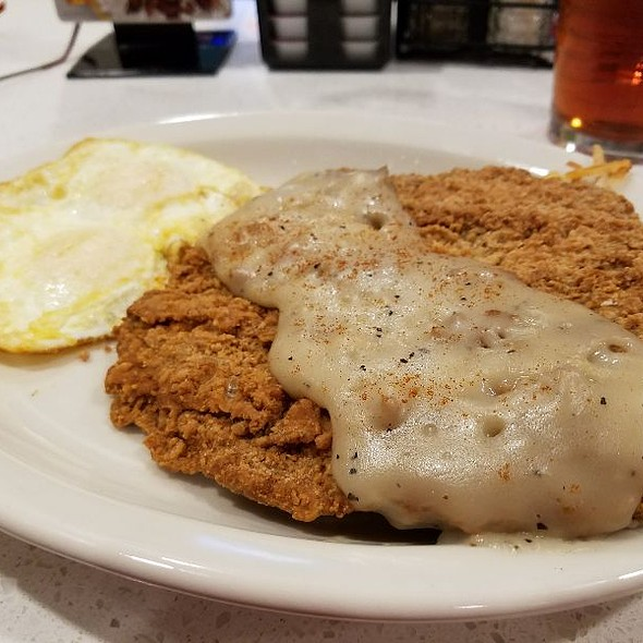 Chicken Fried Steak with eggs