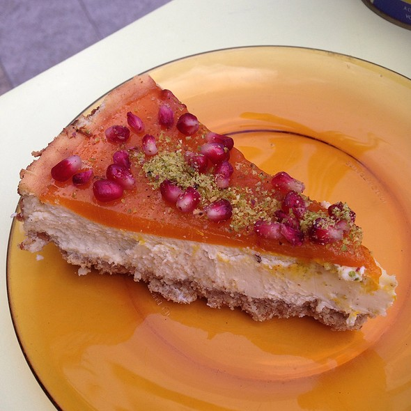 Mango Vanilla Cheesecake @ Comptoir Libanese, Broadgate Circle, London