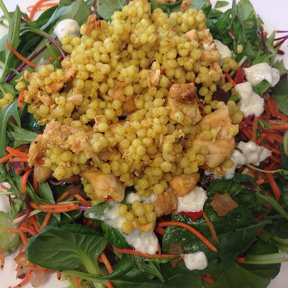 Chicken And Couscous With Moroccan Salad And Yoghurt Dressing
