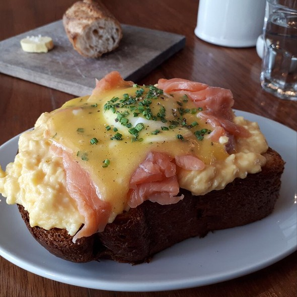 Smoked Salmon And Eggs On Toast