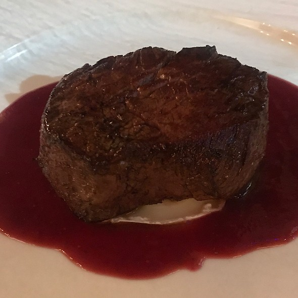Beef Steak With Goat Cheese And Strawberry Sauce