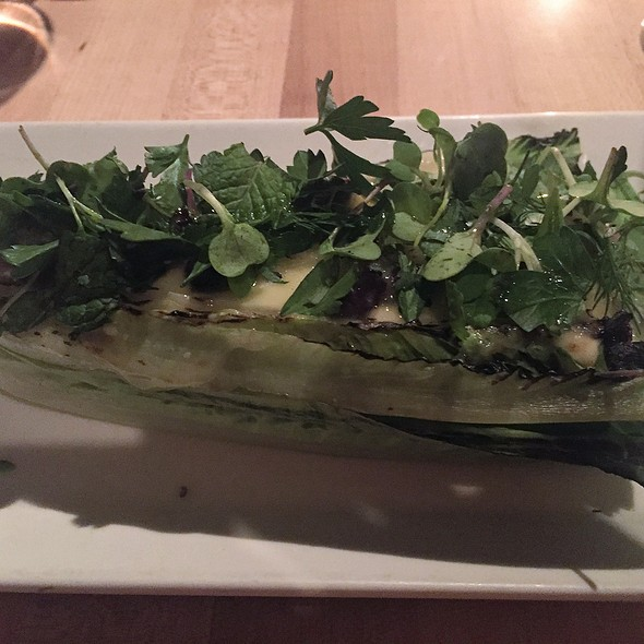 grilled heart of romaine, figs, aged cheddar